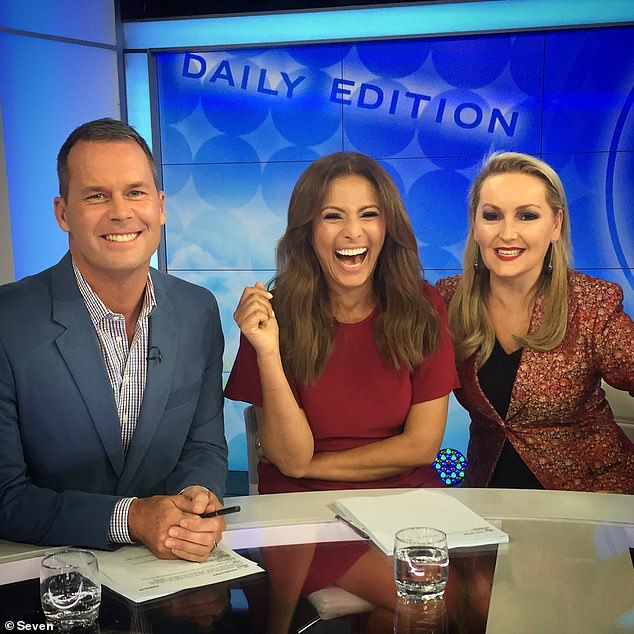 'I miss being in a TV studio': After just six months, Tom revealed that he had parted ways with LJ Hooker and was focusing on various other projects. Pictured with former The Daily Edition co-star Sally Obermeder and Melissa Hoyer