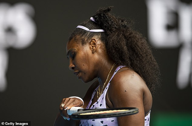 Serena Williams was not at her best as she fell to a 6-4, 6-7, 7-5 loss to China No1 Qiang Wang