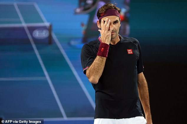Federer looks on as he is taken all the way by Australian opponent Millman on Friday