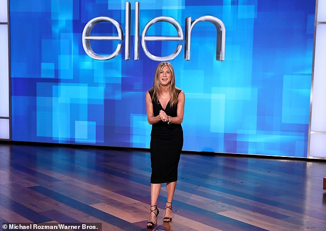 Guest hostess with the mostest:The Ellen episode that Jennifer guest-hosted, which airs Friday, sees her welcoming guests Will Ferrell and Selena Gomez