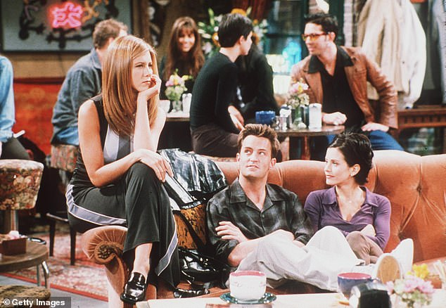 It was like they lived there:'Are you really here, is this real?' exclaimed one very jolted tourist, to which Aniston replied jokingly, 'Yes. I live here'; seen on the set back in 1998