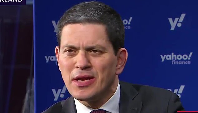 David Miliband, pictured, said the 'most basic rights' are under threat as the 'age of impunity' during his speech ata summit in Davos, Switzerland, today