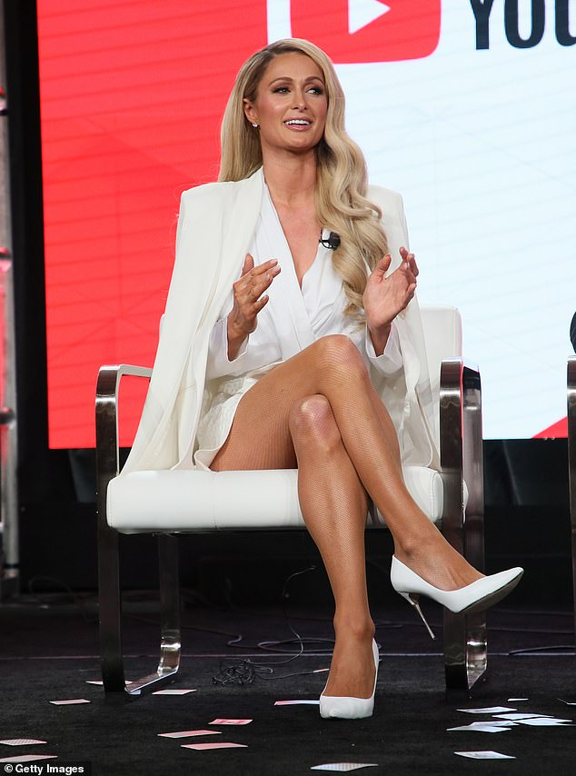 The icon: Her sister Paris Hilton from the untitled Paris documentary spoke during the YouTube segment of the 2020 Winter TCA Tour at The Langham Huntington, Pasadena on January 18