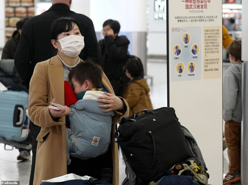 Although a flight freeze has been imposed on planes from Wuhan, other flights from China are coming into the UK today