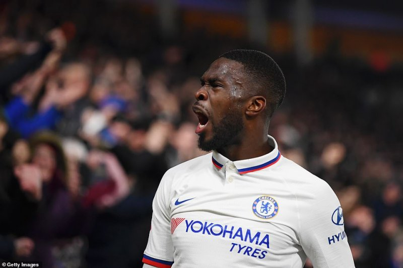 Tomori stood with his chest puffed out and roared towards the Chelsea faithful behind the goal after scoring the second