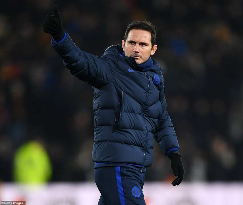 Frank Lampard headed over to salute the Chelsea fans at the final whistle, after they chanted his name throughout