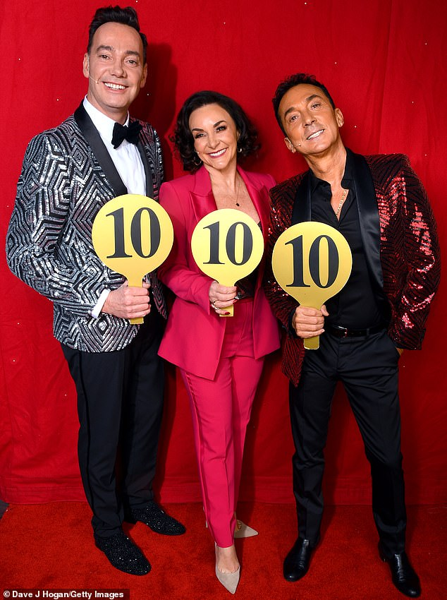 Craig Revel Horwood (right) pictured with fellow judges Shirley Ballas and Bruno Tonioli during the opening night of the Strictly Come Dancing Arena Tour 2020 at Arena Birmingham this month