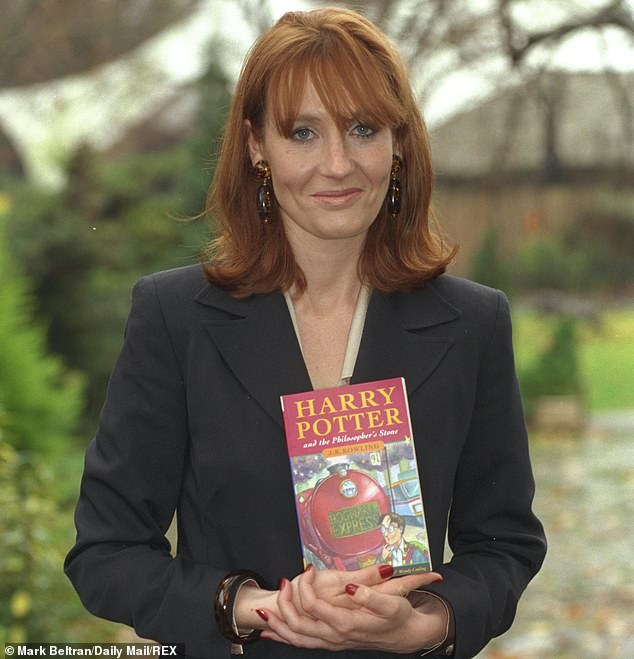 Harry Potter author JK Rowling came 19th and paid tax on almost all of about £100m of royalties and other earnings in 2018 to 2019 through self assessment. Pictured: Rowling in1997