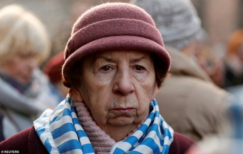 One of the 7,000 survivors freed from the camp on January 7, 1945 when the Soviet Army liberated it. She looks on 75 years later as officials and fellow survivors mark the anniversary of the day they were finally freed from the continual torture of life inside Auschwitz