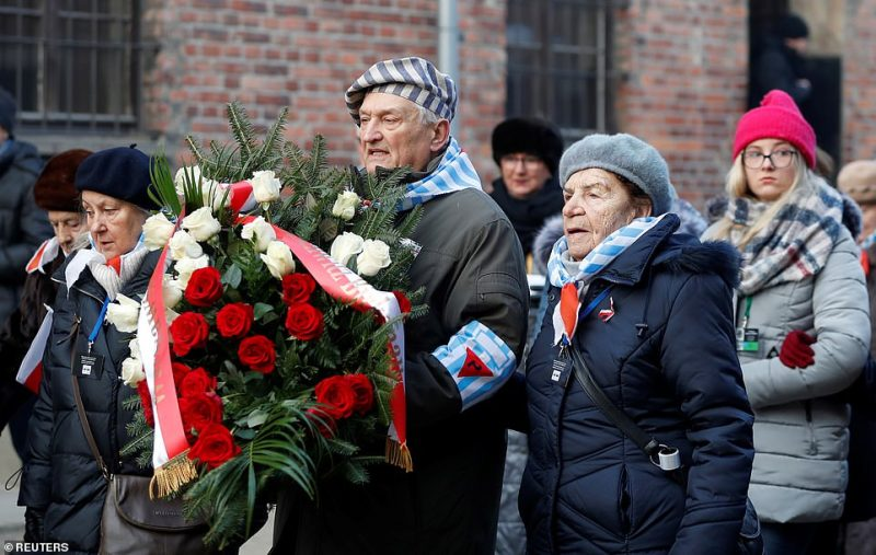 Some 200 survivors of the Nazi camp returned to the place to share their stories with others, to remember those who had gone before and to send a gesture of defiance towards those who had sought their destruction