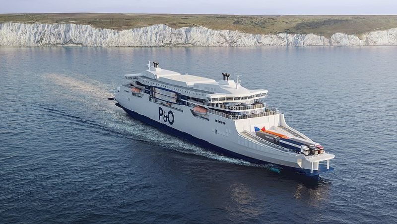 P&O's new 'super ferry' will cut emissions and lower journey times because the ships won't have to turn around in port - thanks to a double-bridge design