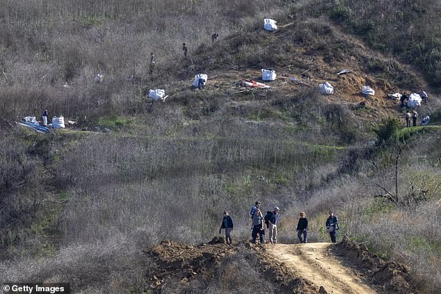 Three bodies were retrieved from the scattered wreckage by a special response team on Sunday - the day of the crash. The remaining six were located as the search resumed in rugged terrain Monday