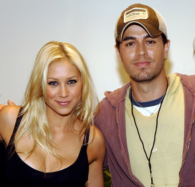 Sweet:Spanish singer Enrique's brother Julio Iglesias Jr confirmed that Anna had given birth in an interview with Chilean radio station ADN. Pictured together in 2003