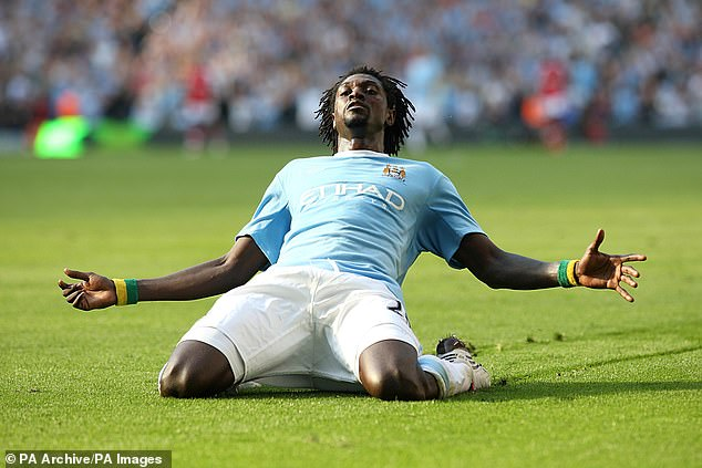 Adebayor has previously played for four Premier League clubs – including Manchester City