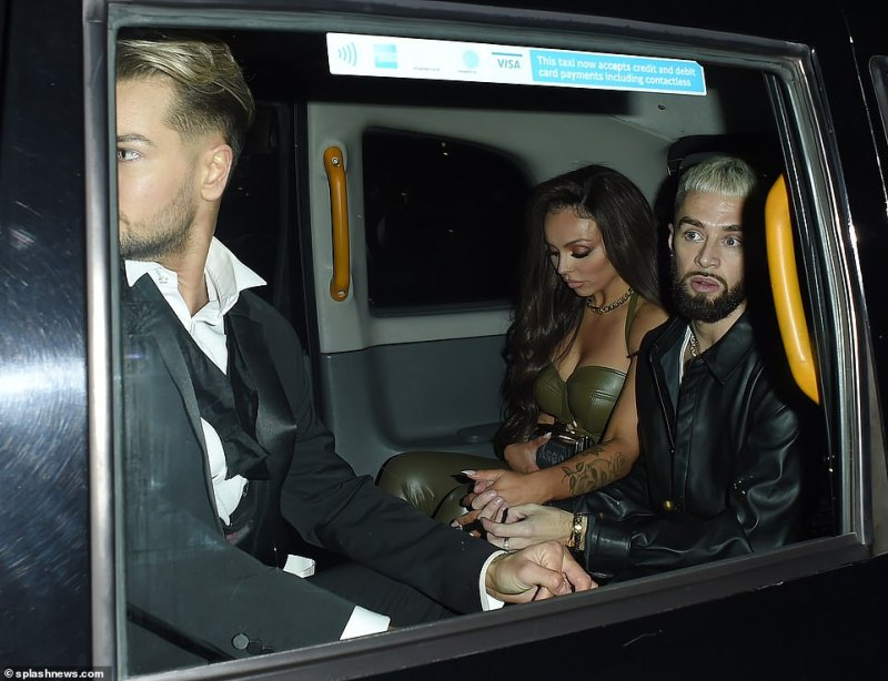 Downcast: Jesy looked bereft in the wake of the row which she avoided at all costs