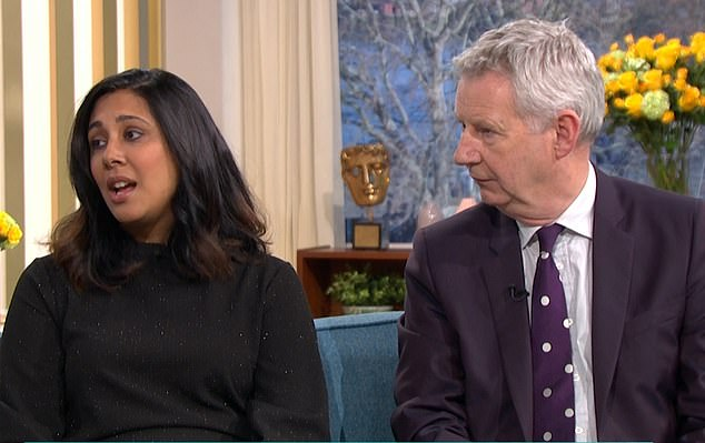 MeeraNaran appeared on This Morning alongsideAA boss Edmund King.Her son, from Leicestershire, died instantly when the Toyota Yaris he was in - which was stopped on a hard shoulder opened to traffic - was hit at 56mph on the M6