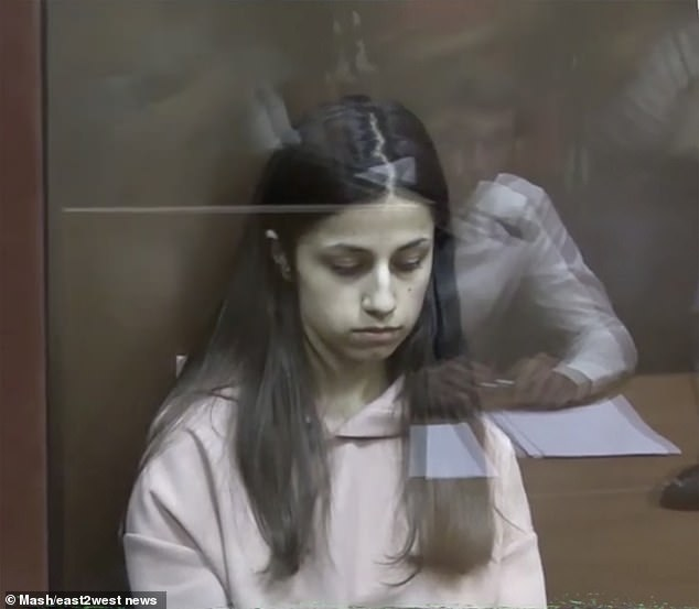 Angelina Khachaturyan pictured in court at an earlier stage of the legal process