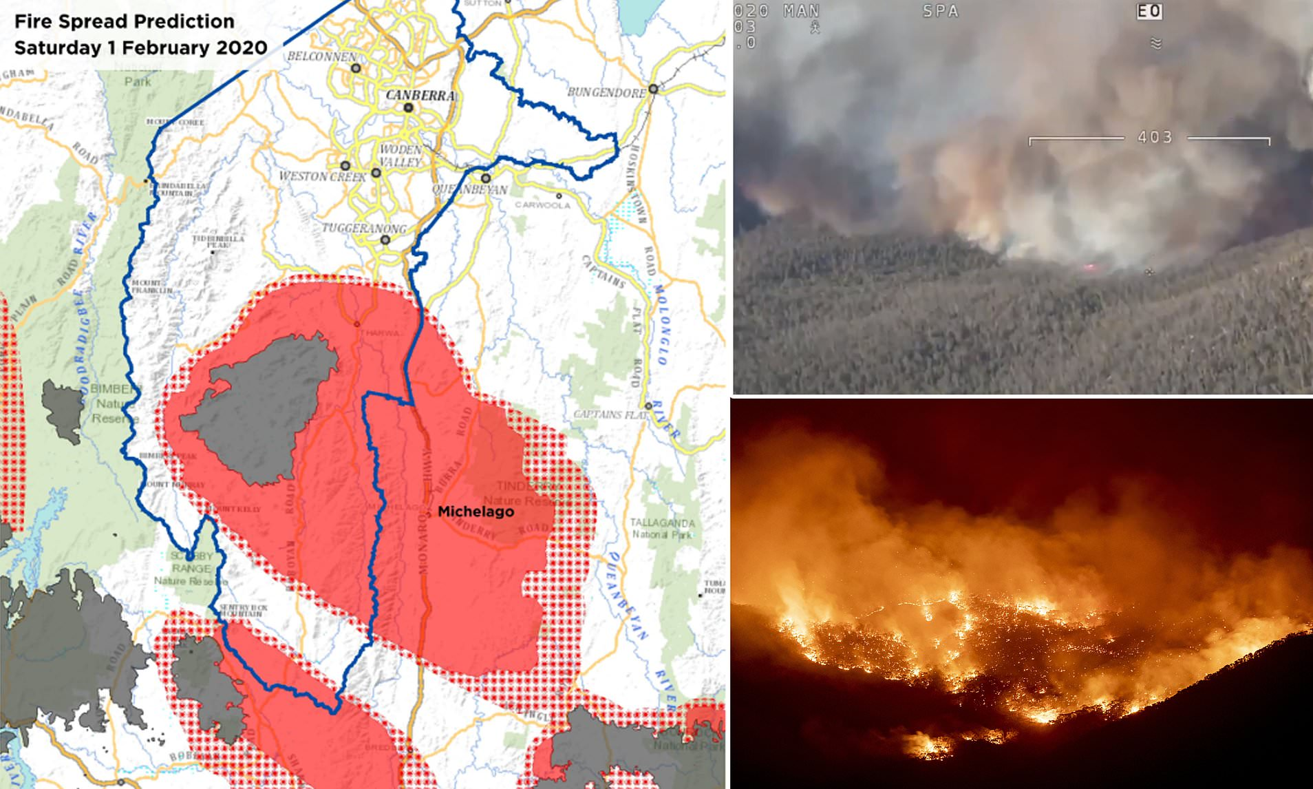 Out Of Control Bush Fire Continues To Burn Near Australian Capital