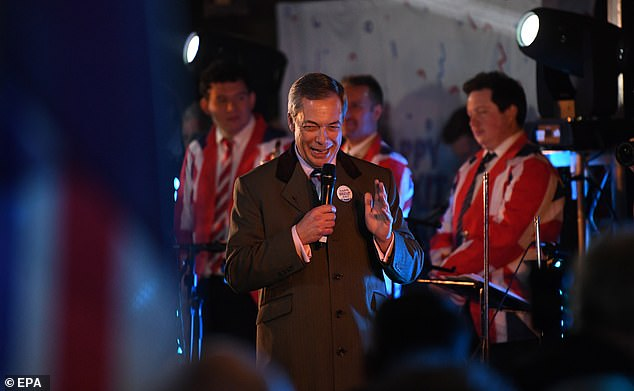 In a rabble-rousing speech to his army of Leave supporters, he said: 'This is something that I fought for - for 27 years and something that many thousands of you gave your time and money for