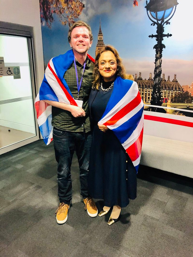 Social media is abuzz with people sharing images of themselves marking Brexit Day, with many draping Union Jacks over themselves in celebration