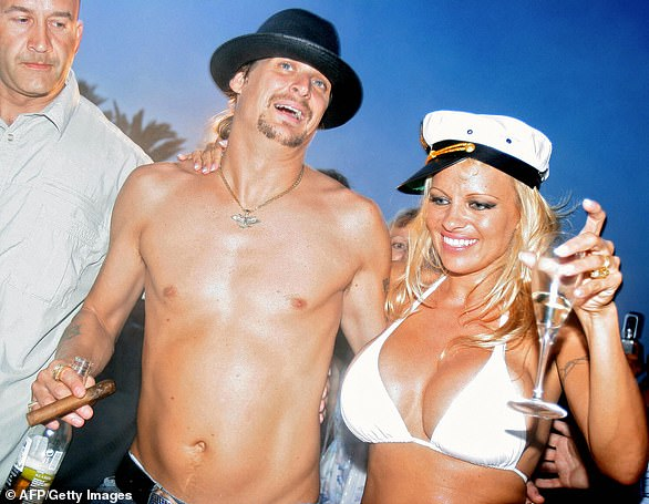 Kid Rock and Pam seen here on the day of their 2006 wedding