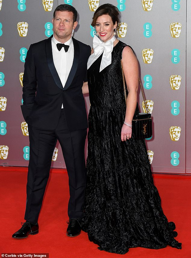 Baby's Joy: Since then, the private couple have shared rare glimpses of Dee's pregnancy during the lockdown (photo at BAFTA in February)