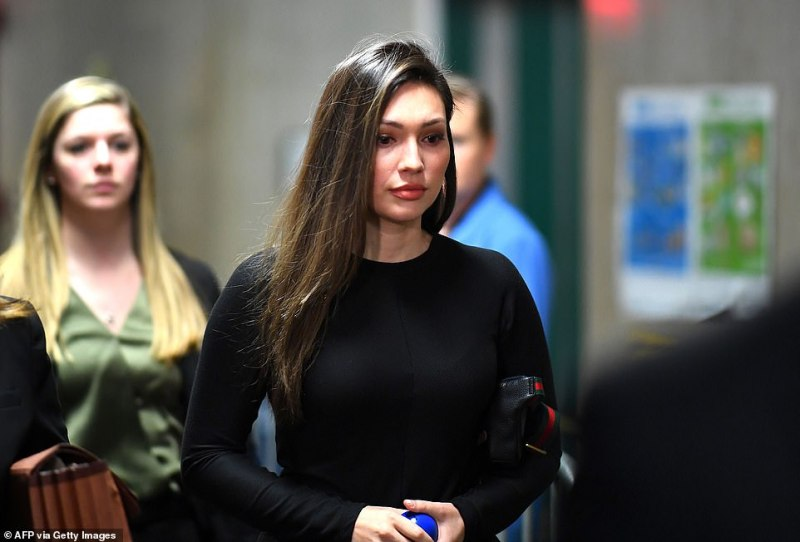 Weinstein's lawyers revealed Mann gave the movie mogul her phone number five times after he allegedly raped her. Defense lawyers tried to rip apart her testimony on Monday, leading the once aspiring actress to break down in sobs. Mann pictured above Friday entering court for her testimony