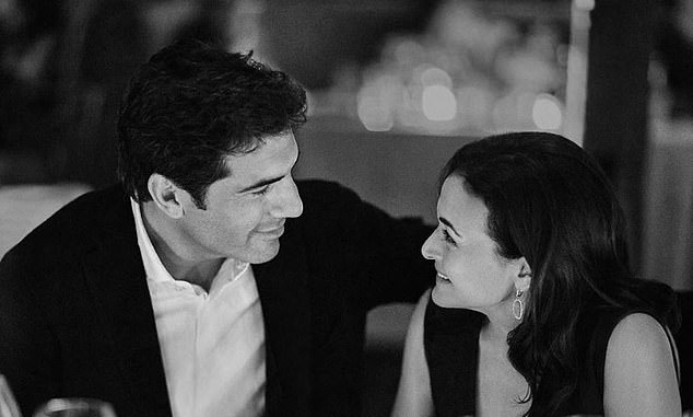 Look of love: Sandberg shared this photo to announce her engagement earlier this month, writing: 'Engaged!!! Tom Bernthal, you are my everything. I could not love you more'