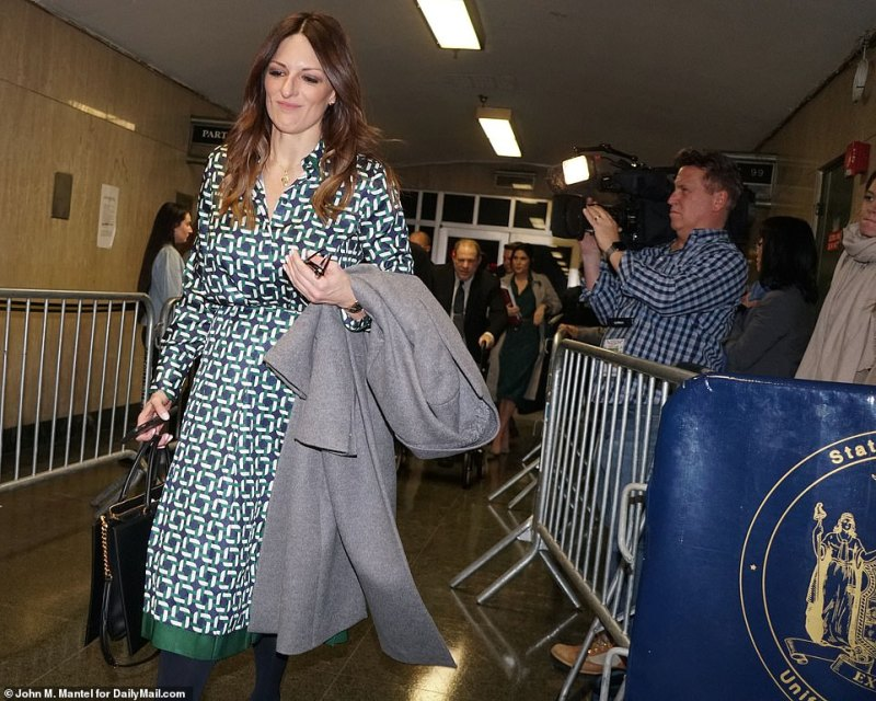 Weinstein attorney Donna Rotunno pictured leaving court after he pummeled Mann with intense questions on her relationship with the film producer
