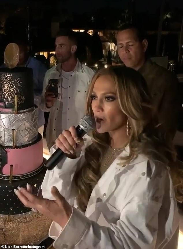 Reflection: Jennifer Lopez, 50,delivered an emotional speech on a luxury yacht Sunday after her Super Bowl halftime show, acknowledging her performance with Shakira as 'one of the best Super Bowls of all time'
