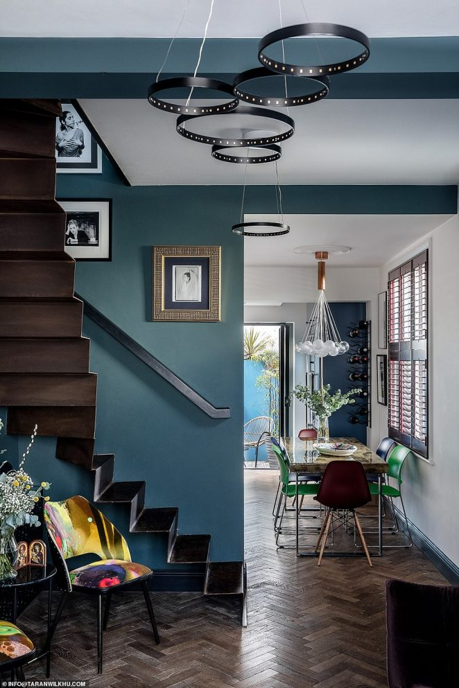 A couple maximised space in every room and used crafty design in order to give them more room - including ripping out their old staircase and adding a slimline steel version