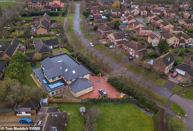 Dr Manoj Srivastava, 48, sparked anger among some of his well-heeled neighbours by replacing his former bungalow with a massive, five bedroom home