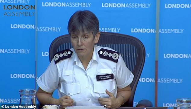 Metropolitan Police Commissioner Cressida Dick told the London Assembly Police and Crime Committee today (pictured) that paramedics could get specialist training for terror scenes
