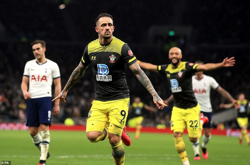 Ings celebrated after scoring the goal he and his team-mates thought would be enough to clinch the Cup tie 2-1