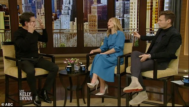 Doctors told Probst he had transient global amnesia, a sudden episode of temporary memory loss that affects older people and has no known causes. Pictured: Probst on Live with Kelly and Ryan on Wednesday