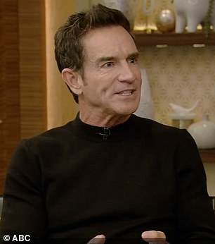 Probst, 58, was booking a trip for himself and his wife when he couldn't remember his wife's birthdate. Pictured: Probst on Live with Kelly and Ryan on Wednesday
