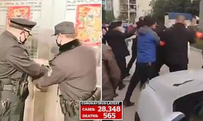 Image result for chinese police forced coronavirus evacuations