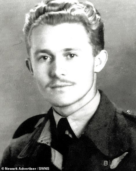 Mr Auton (as a young RAF serviceman)joined the Air Force in 1941. He initiallywanted to be a Spitfire pilot but became a bombardier