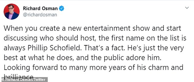 High praise: Proud: Commending the star, TV doctor Ranj Singh - a regular guest on This Morning - admitted he was bursting with pride, as was presenter Rylan Clark-Neal. While fellow presenter Richard Osman also credited the star on Friday morning