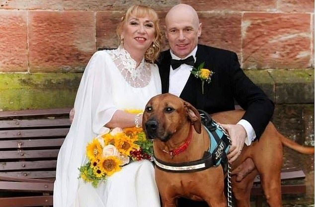 British honeymooner Alan Steel, from Wolverhampton, became the second confirmed UK national to be diagnosed with the lethal disease after catching it on a cruise ship off the coast of Japan (pictured with his new wife Wendy)