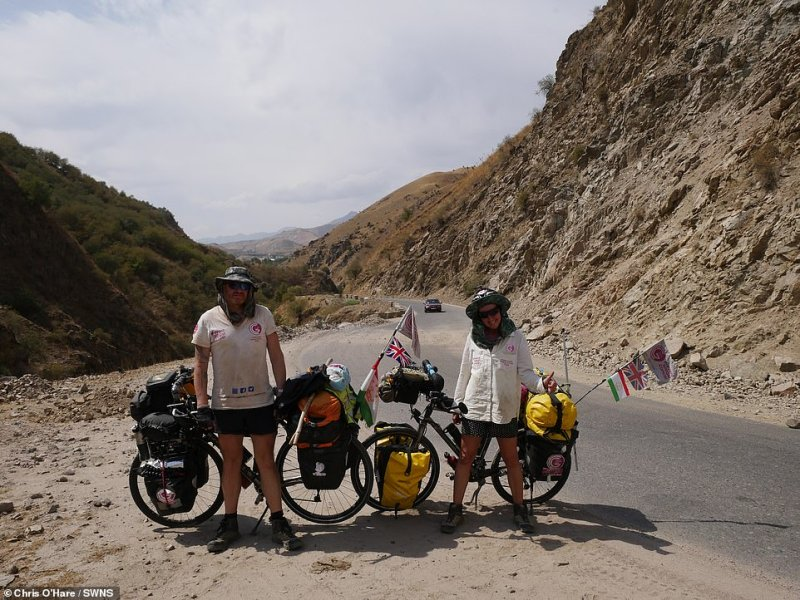 Gabriella Gratrix and Chris O'Hare in Tajikistan,a country in Central Asia surrounded by Afghanistan, China, Kyrgyzstan and Uzbekistan