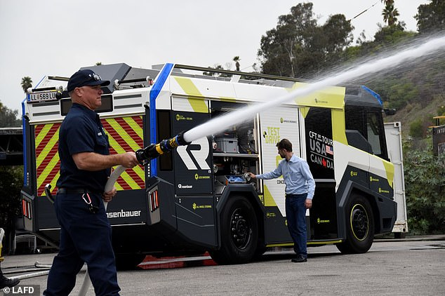 The Los Angeles Fire Department is set to become the first fire department in North America to purchase an electric fire engine