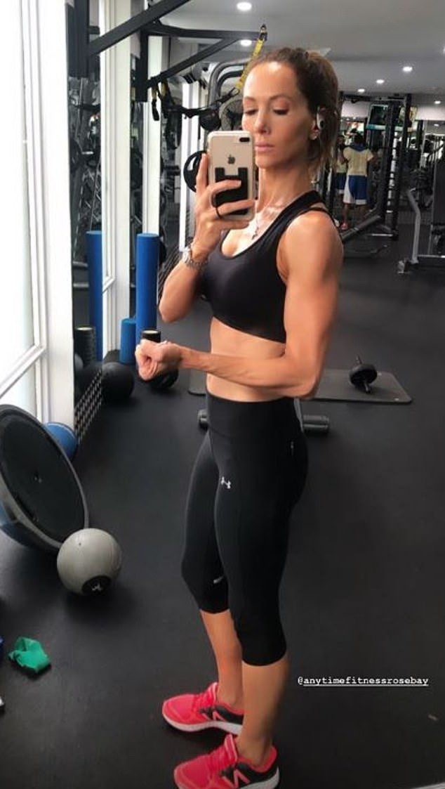Mystery:The news came as a surprise to many, as Kyly had told Daily Mail Australia in January 2019: 'We're not, never were and never will be splitting'. Kyly is pictured at the gym this week