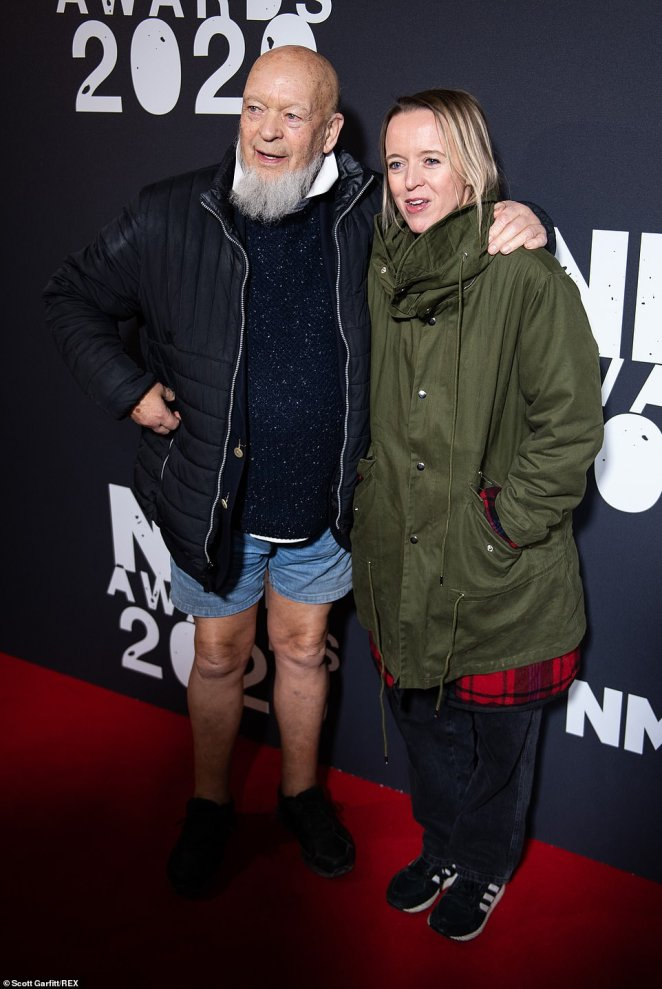 Family: Michael and Emily Eavis, co-organisers of the Glastonbury Festival, looked in good spirits on the red carpet