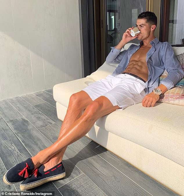 Rounding out the top five was Portuguese footballer Cristiano Ronaldo (pictured), who regularly flaunts his toned physique on social media