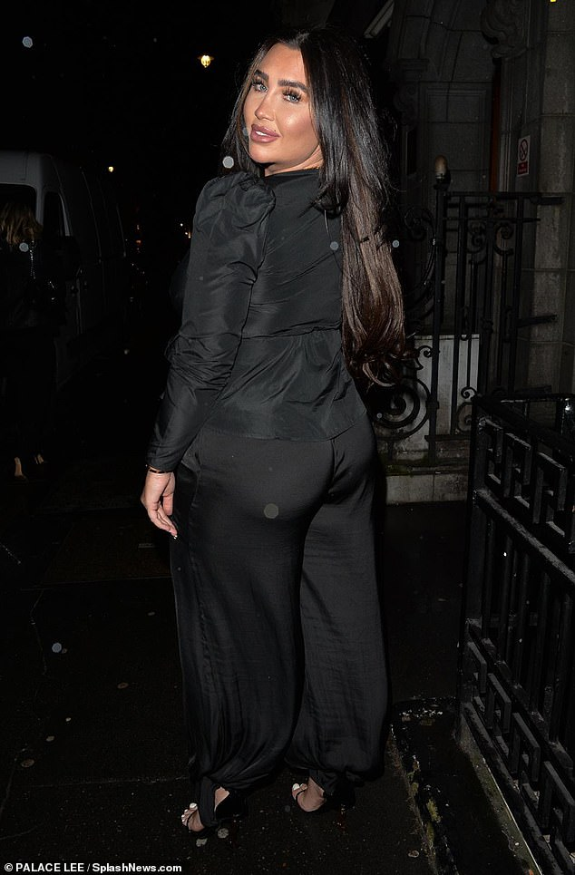 Peachy! The night out comes after she denied that she has had surgery, including implants or fat transfer to enhance the look of her derriere
