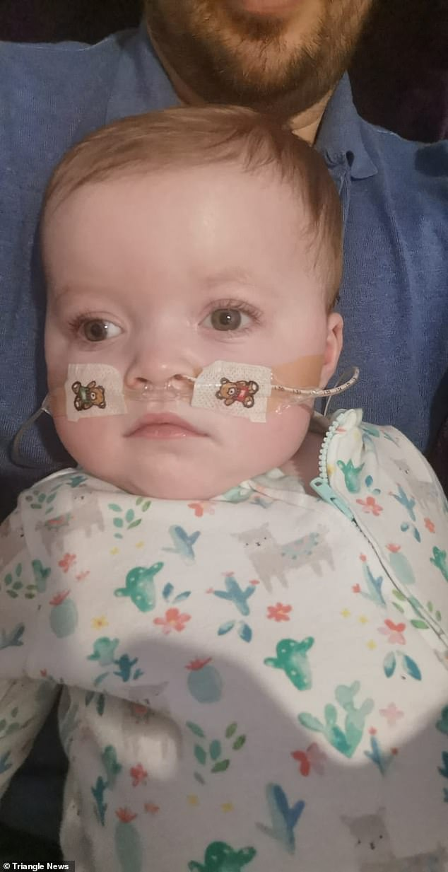 The parents have now learned to look after Amelia (pictured) - who requires constant treatment - from home. Rubyhas not yet shown any signs of regression but it is likely to happen from when she is 18 months old - just one month away