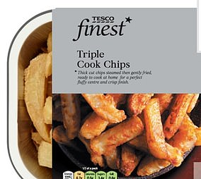 Adding a side of triple cooked chips pushes the portion up a further 261 calories