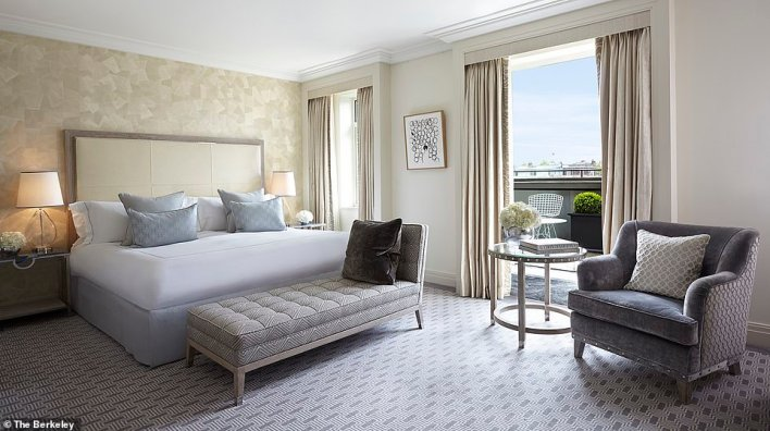 The Berkeley, pictured, in London, picks up the Philanthropic Star award. The hotel served 500 meals to the emergency services during the first lockdown