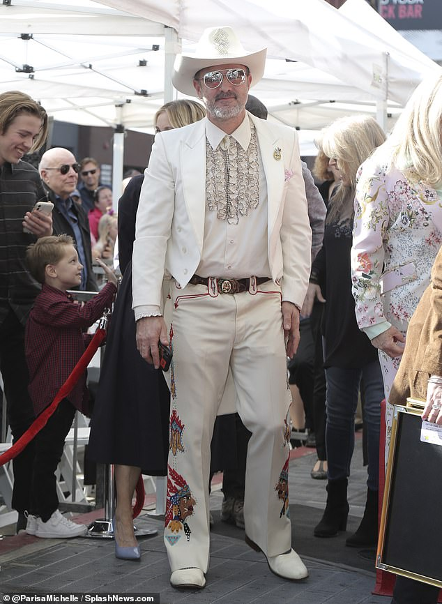 Chief among the stars who attended: Scream actor David Arquette stopped by the Hollywood Walk Of Fame ceremony forSid and Marty Krofft on Thursday